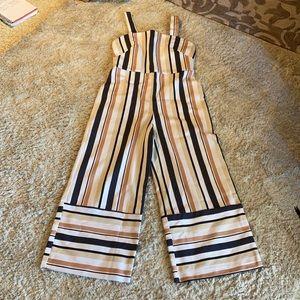 NWT ASOS Pinny stripe Jumpsuit size 8